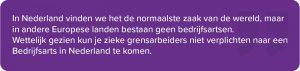 zieke grensarbeider in Nederland