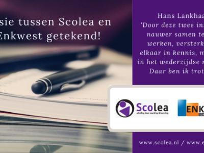 Fusie Scolea Enkwest getekend quote Hans Lankhaar
